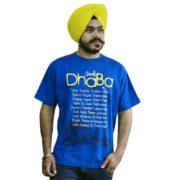An Elegant Royal Blue Punjabi Slogan T-Shirt