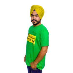 A beautiful round neck Green T-Shirt with Punjabi Slogan