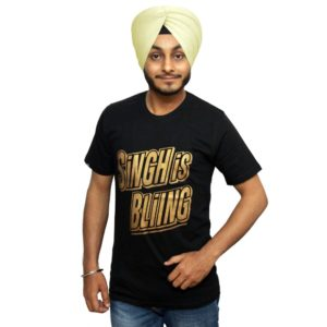 Black T-shirt with Punjabi slogan