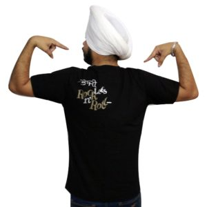 Punjabi Slogan T-Shirt in Black Color