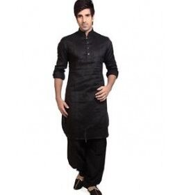 Men Pathani Suit in black color