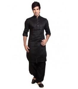 Men Pathani Suit in black color