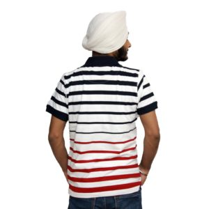 Punjabi T-Shirt in collar with stripes