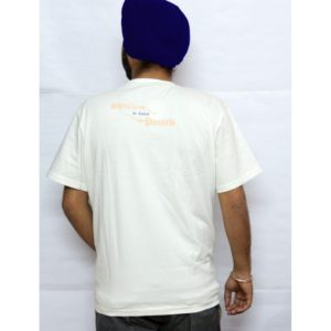 A beautiful white printed t-shirt with Punjabi Slogan