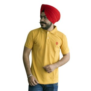 Punjabi T-Shirts in Yellow Color