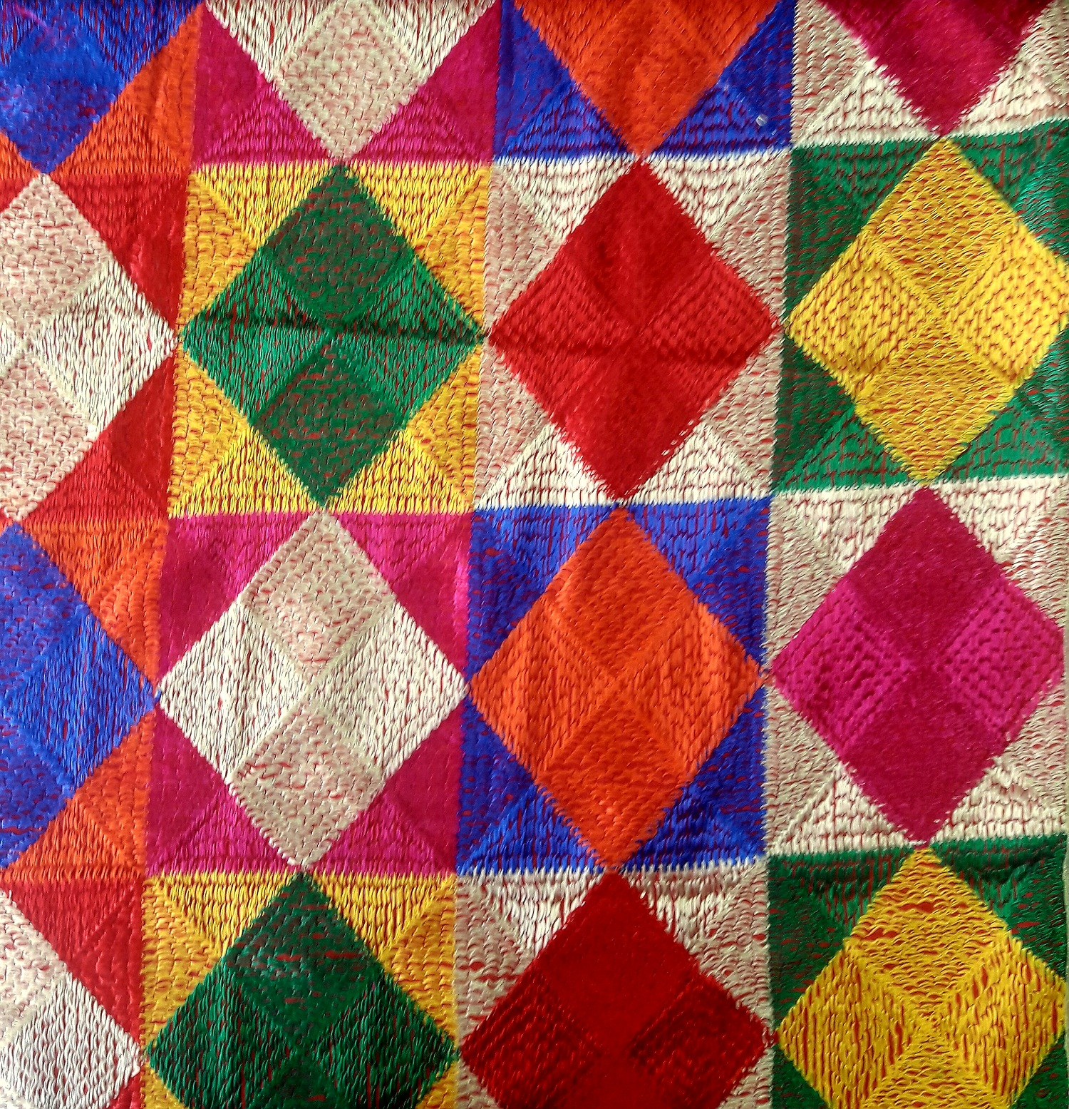 phulkari embroidery How to do phulkari embroidery bed spread, bed sheetdiwali offer.