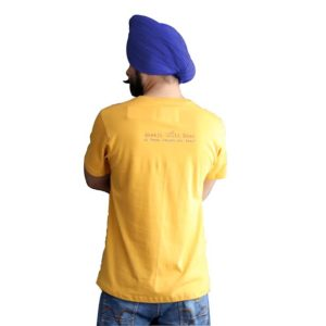 Punjabi Slogan T-Shirt with Round Neck